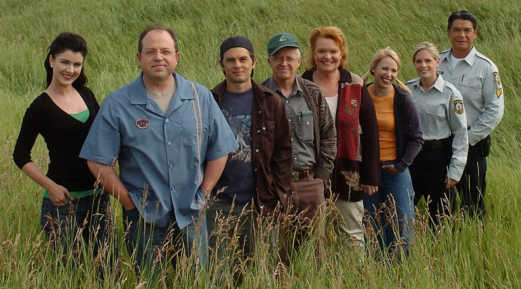 Corner Gas cast in field