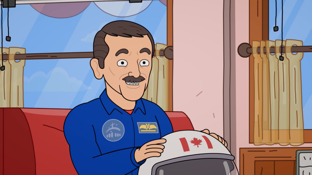 Commander Chris Hadfield in the Ruby